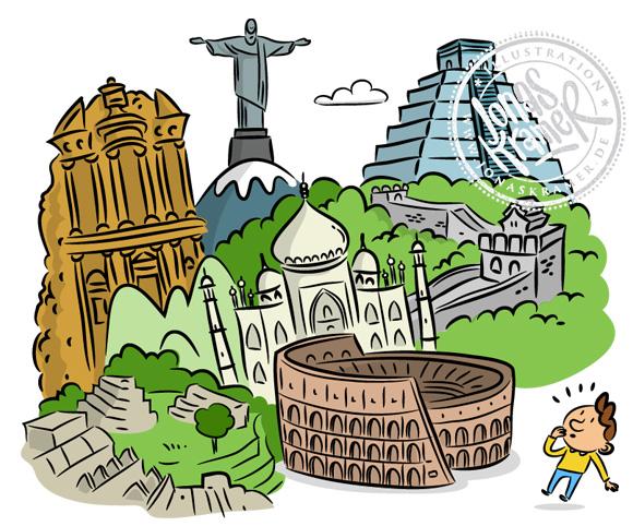 Illustration Weltwunder Kinder